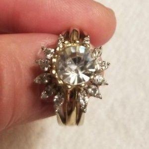 Jewelry - 14k diamond ring guard size 6.5